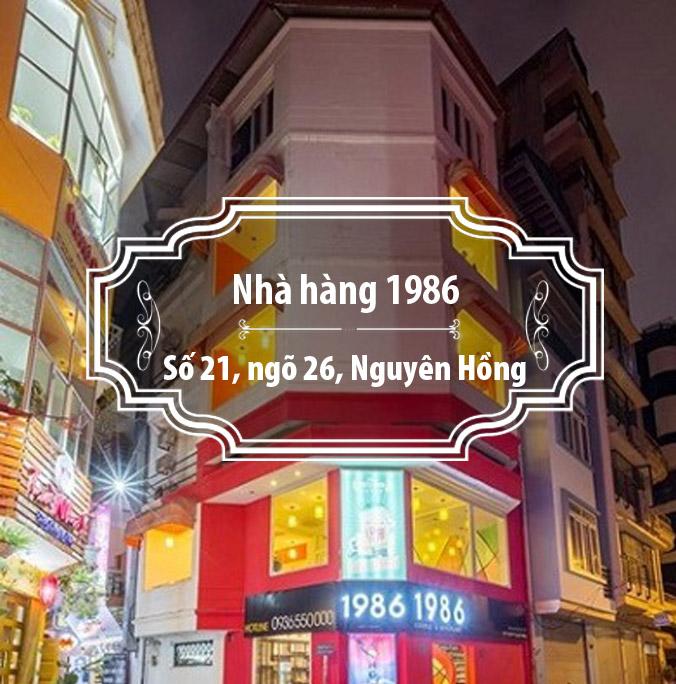 Nhà hàng 1986 - Hương vị tuyệt hảo trong không  gian hiện đại.